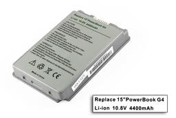 Apple PowerBook G4 15 helyettesítő új laptop akku/akkumulátor  A1045, A1078, A1148