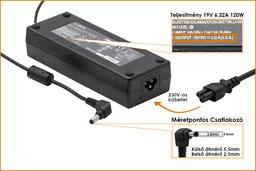 Asus 19V 6.3A 120W helyettesítő új laptop töltő (PA-1121-02, PA-1121-28, ADP-120RH B)