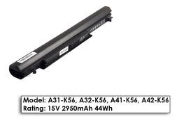 Asus A46, K46, K56 gyári új 4 cellás laptop akku/akkumulátor  A41-K56