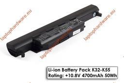 Asus A55, K55, X55 használt 100%-os, 6 cellás, laptop akku/akkumulátor (A32-K55)