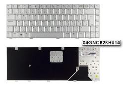 Asus A8, F8, F8TA, F8VA gyári új ezüst magyar laptop billentyűzet, 04GNCB2KHU14