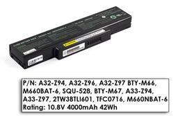 Asus A9, Z94, MSI GX720 6 cellás használt 60%-os helyettesítő laptop akku/akkumulátor (M660NBAT-6)