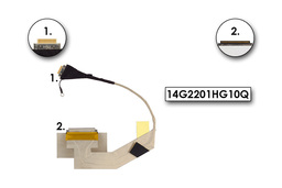 Asus EEE Pc 1000HA laptophoz gyári új LCD kábel, 14G2201HG10Q