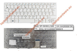 Asus EEEPC 1001HA,1005HA,1005P,1008HA használt német fehér laptop billentyűzet (MP-09A36D0-5283)