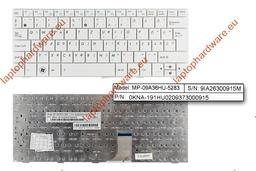 Asus EEEPC 1001HA,1005HA,1005P,1008HA használt magyar fehér laptop billentyűzet (MP-09A36HU-5283)