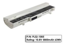 Asus EEEPC 1001HA, 1005HA használt 6 cellás 90%-os fehér laptop akku/akkumulátor (PL32-1005)