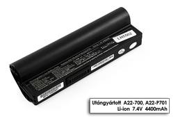 Asus EEEPC 700, 701, 900, A22-700 fekete 4 cellás helyettesítő új laptop akkumulátor