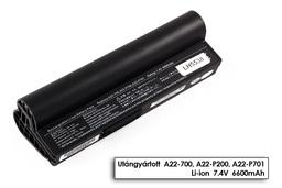Asus EEEPC 700, 701, 900, A22-700 fekete 6 cellás helyettesítő új laptop akkumulátor
