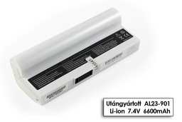 Asus EEEPC 901, 1000, 1200, AL23-901 fehér 6 cellás helyettesítő új laptop akkumulátor