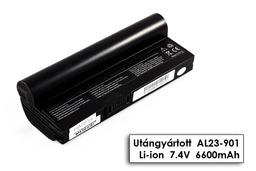 Asus EEEPC 901, 1000, 1200, AL23-901 fekete 6 cellás helyettesítő új laptop akkumulátor