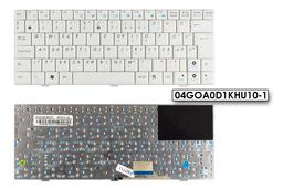Asus EEEPC X1000H használt magyar fehér laptop billentyűzet (04GOA0D1KHU10-1)
