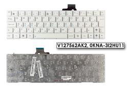 Asus EEEPC X101 gyári új magyar fehér keret nélküli laptop billentyűzet (V127562AK2)