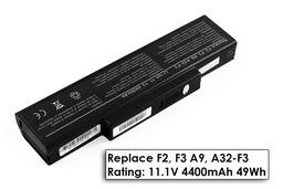Asus F2, F3, X56 A32-F3 6 cellás helyettesítő új laptop akkumulátor