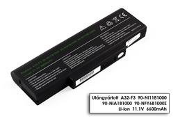 Asus F2, F3, X56, A42-F3 9 cellás helyettesítő új laptop akku/akkumulátor
