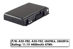 Asus K50 K50IJ laptop akkumulátor, gyári új, 6 cellás (4400mAh)