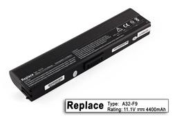 Asus F6, F9, A32-F9, A31-F9 6 cellás helyettesítő új laptop akkumulátor