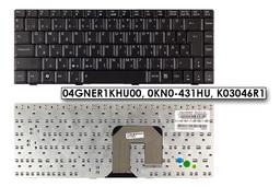 Asus F9, F6, U3, U6 gyári új magyar fekete laptop billentyűzet (04GNER1KHU00, 0KN0-431HU)
