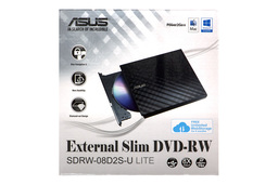 Asus fekete SLIM USB külső DVD Író (SDRW-08D2S-U)