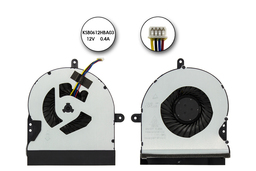 Asus G751JT, G751JY gyári új laptop VGA hűtő ventilátor (13NB06F1P11011, KSB0612HBA03)