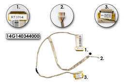 Asus K43E, K43SA, P43E, P43SJ laptophoz használt LCD kábel mikrofonnal, 14G140344000