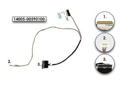 Asus K46CA, S46CB, K46CM (S405C) gyári új laptop LCD kijelző kábel (14005-00590000, 14005-00590100)