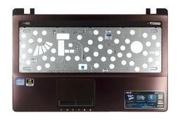 Asus K53E, K53S sorozatú laptophoz használt felső fedél touchpaddel, barna, 13GN3C4AM012-1