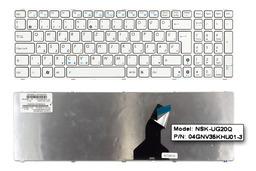 Asus K53E, K53SC, K53SD gyári új magyar fehér laptop billentyűzet (04GNV35KHU01-3)