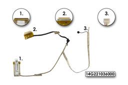 Asus K53E, K53SC, K53SD, K53SK, laptophoz használt LCD kábel mikrofonnal, 14G221036000