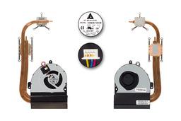 Asus K53SV, K53SJ, K53SM gyári új komplett hűtő ventilátor egység (45W TDP), 13GN3G1AM020-1, KSB06105HB AL10