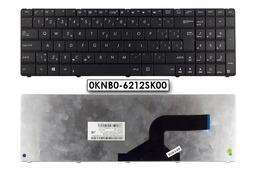 Asus K55DR, X55C, X75VD Wave gyári új szlovák fekete laptop billentyűzet (0KNB0-6212SK00)