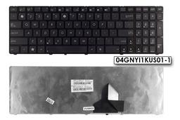 Asus K55N, K52F használt fekete US angol laptop billentyűzet, 04GNYI1KUS01-1