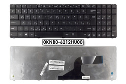 Asus K53E, B53E, P53E gyári új magyar fekete Wave billentyűzet (Win8) (0KNB0-6212HU00)