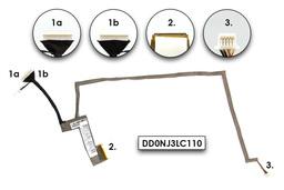 Asus K72F, K72DR, K72JK gyári új laptop LCD kábel (14G140305001, DD0NJ3LC110)