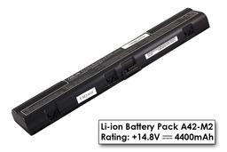 Asus L3, M2 gyári új 8 cellás fekete laptop akku/akkumulátor  A42-M2, 70-N651B8200