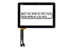 Érintő panel, touchscreen (fekete) Asus MeMO Pad 10 (ME102A) tablethez (MCF-101-0990-01-FPC-V2.0)