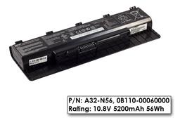 Asus N46, N56, N76 hasznalt 6 cellás 70%-os gyári laptop akku/akkumulátor (A32-N56, 0B110-00060000)