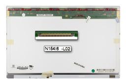 Gyári új fényes 15.4'' (1280x800) LED kijelző Asus N50, N50A, N50V laptopokhoz (csatlakozó: 30 pin - jobb)