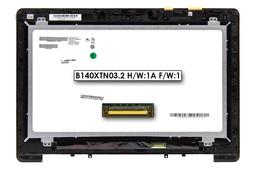 Asus S451LA, S451LB, S451LN gyári új laptop LCD kijelző modul (14.0'' HD 1366x768) (90NB02U1-R21000, B140XTN03.2 H/W:1A F/W:1)