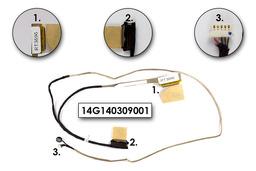 Asus U30JC, U30SD laptophoz használt LCD kábel mikrofonnal, 14G140309001