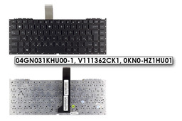 Asus U33JC, U43JC gyári új magyar fekete laptop billentyűzet (04GN031KHU00-1)