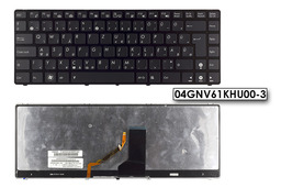 Asus UL30, UL80, K42 gyári új magyar háttér-világításos laptop billentyűzet, 04GNV61KHU00-3