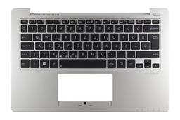 Asus X201E gyári új szürke magyar laptop billentyűzet modul, 90NB00L2-R31HU0