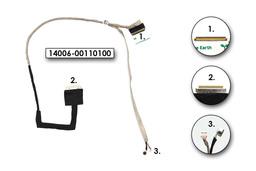 Asus X401A, X401U gyári új laptop LCD kijelző kábel (DD0XJ1LC010, DD0XJ1LC000)