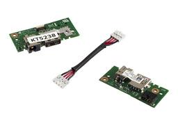 Asus X401A, X401U laptophoz gyári új DC tápaljzat és USB panel, 14004-0070000