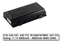 Asus X51, Packard Bell MX35 használt 6 cellás 80%-os laptop akku/akkumulátor (A32-T12, A32-T12J)