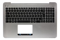 Asus X555LA, X555LD, X555LN gyári új magyar ezüst-fekete fém laptop billentyűzet modul hangszóróval (90NB0647-R32HU0)