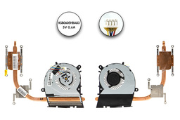 Asus X555LB, X554LJ használt komplett laptop komplett hűtő ventilátor egység (13NB0621AM0501, 13N0-RPA0101)