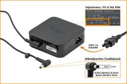 Asus Zenbook 19V 4.74A 90W gyári új (4.5*3.0mm, center pin) laptop töltő, EXA1202YH, ADP-90YD B