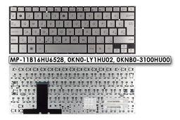 Asus ZenBook UX31, UX31e laptophoz gyári új szürke magyar laptop billentyűzet, 0KNB0-3100HU00