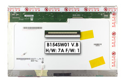 AU Optronics B154SW01 V.B WSXGA+ CCFL 15.4 inch használt fényes laptop kijelző